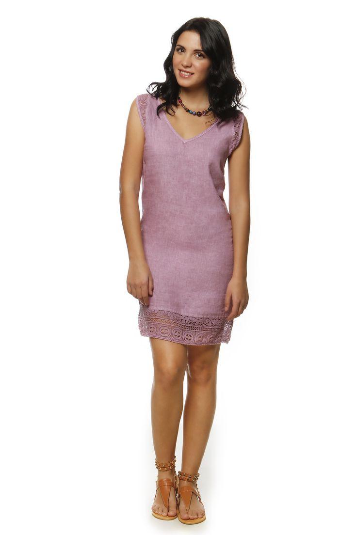 Linen Dress 1368 http://eshop.hariscotton.gr/