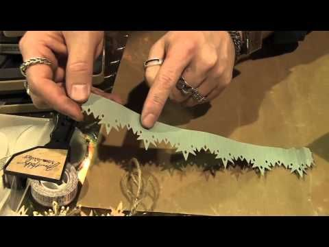 Scrap Time - CHA Summer 2012 - Tim Holtz at Sizzix - Snowflake Die Tim always has great tips etc. Love the way he teaches!