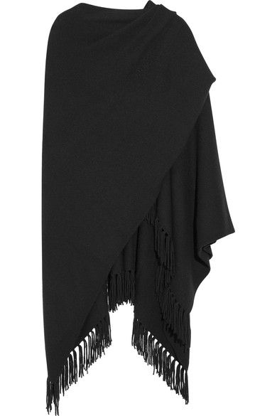Joseph - Fringed Cashmere Wrap - Black - x large