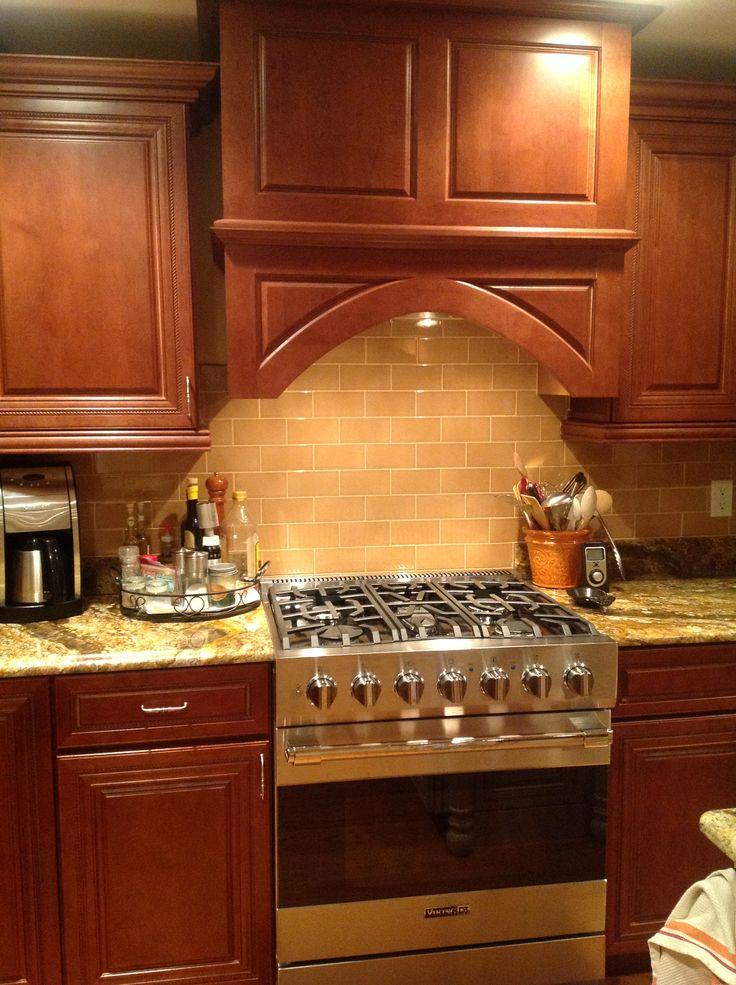 Subway Tile Backsplash New Stove Cottage Kitchen Tile
