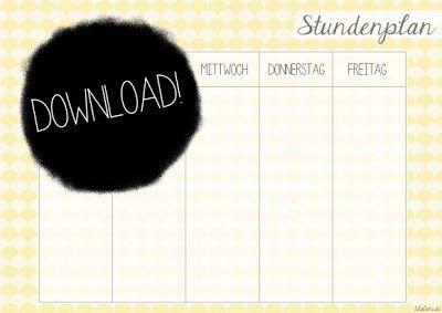 Stundenplan {free printable} by http://titatoni.blogspot.de/