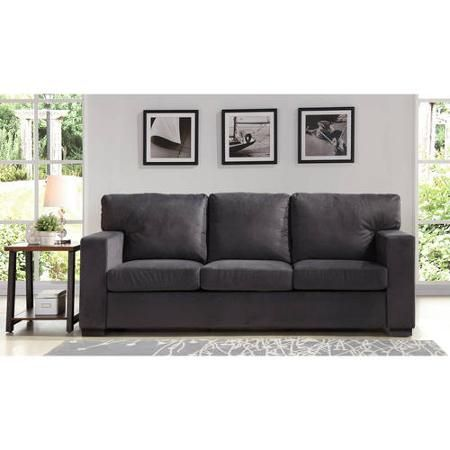 Leather Sleeper Sofa Better Homes and Gardens Oxford Square Sofa Charcoal Walmart
