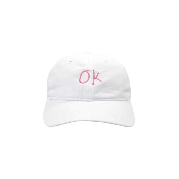 Average White Cap (£25) ❤ liked on Polyvore featuring accessories, hats, white cap, caps hats and white hat