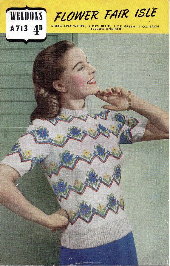 114 best Vintage Knitting Patterns images on Pinterest | Stricken ...