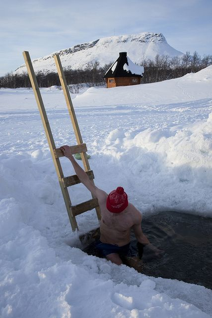 a polar plunge in Finland - by Visit Finland, via Flickr  (I will be at the cabin drinking coffee.  I'll save you a cup.)