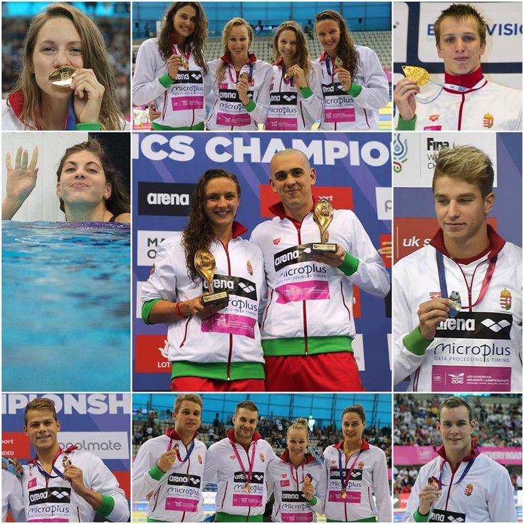 GRATULÁLUNK a londoni Európa-bajnokságon fantasztikusan szereplő úszóválogatottnak ,! A magyar küldöttség az éremtáblázat élén végzett 10 ARANY-, 4 EZÜST- és 5 BRONZÉRMÉVEL – ez minden idők legjobb Eb-szereplése!