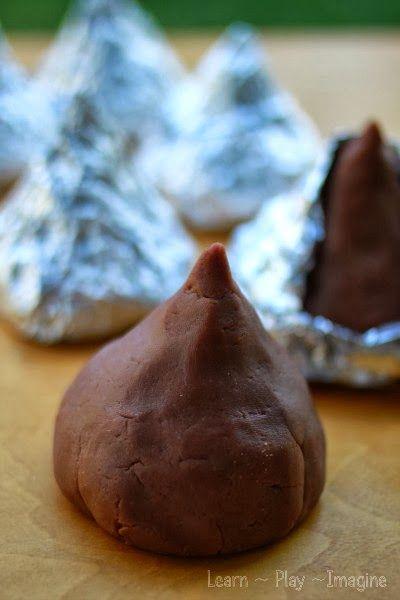 Hershey Kiss Playdough made from REAL chocolate!