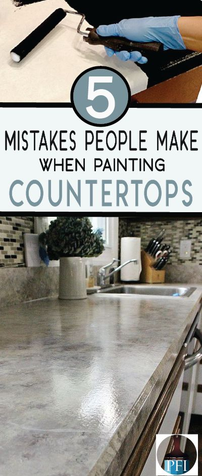 If you are thinking of painting countertops in the future, learn from other DIYers mistakes. Get a beautiful new countertop now!
