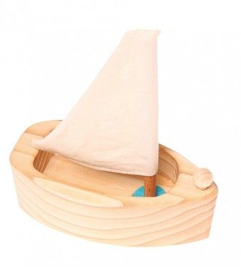 Grimm's Natural Sailing Boat – The Creative Toy Shop