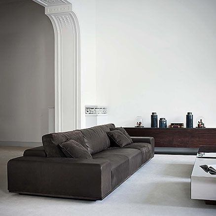 Small Sectional Sofa This leather sofa is modern and fortable and will match any contemporary space