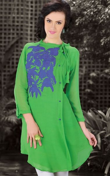 Picture of Luscious Green Color Designer Kurti