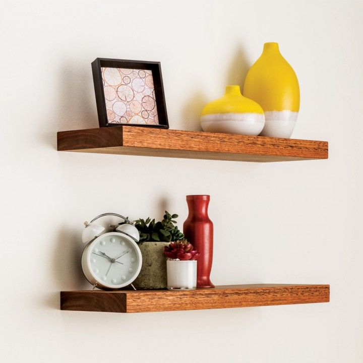 Blind shelf supports: Simply bore the holes into the back of your shelf and slide it onto the supports!