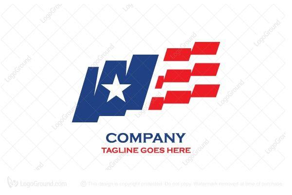 Usa Flag Logo Flag Logo Logos Event Logo