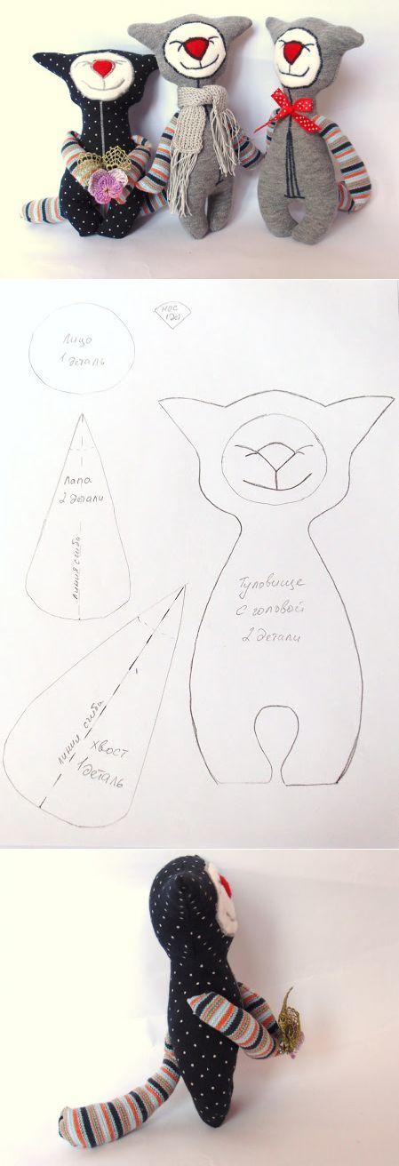 PANTLYK: Счастливые котики. Выкройка и инструкция