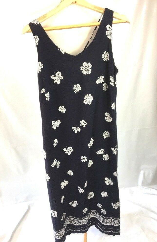 41f7298377 Womens Maxi Dress Navy Blue Size 14 Floral Vneck Summer UK J2  fashion   clothing  shoes  accessories  womensclothing  dresses (ebay link)
