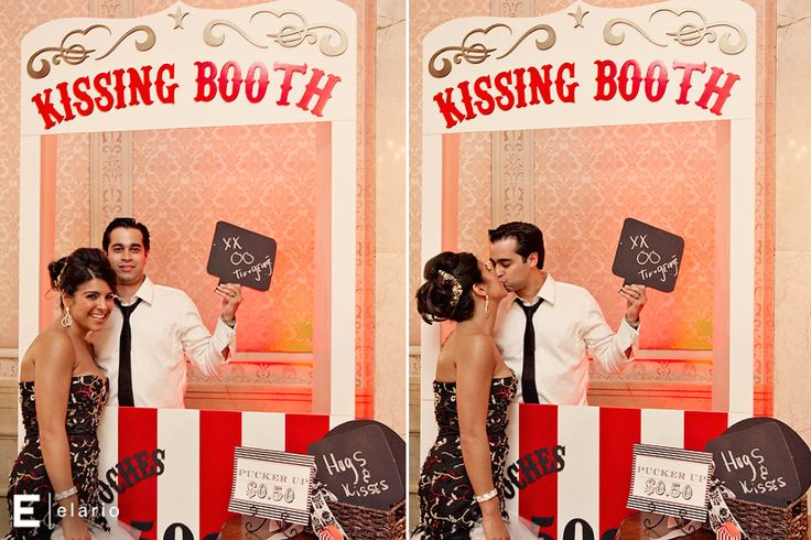 Kissing Booth Photo Prop | Smooches & Kisses | Creative Kissing Booths » The Bridal Detective