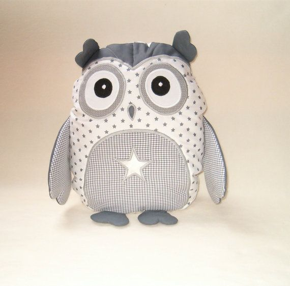 Star Owl Owl Bedroom Decor Organic Owl TOY door Customquiltsbyeva, $40.00