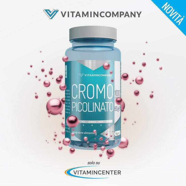 """""""Cromo Picolinato"""" by @Vitamin_Company> www.vitamincenter.it/cromo-picolinato-100-cpr.html macronutrienti + normali livelli di glucosio nel sangue per il tuo benessere"""