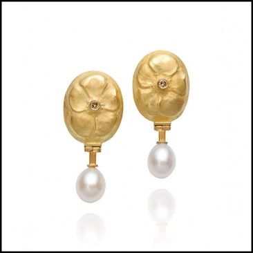 Linda Kindler Priest - Oval Violet Earrings
