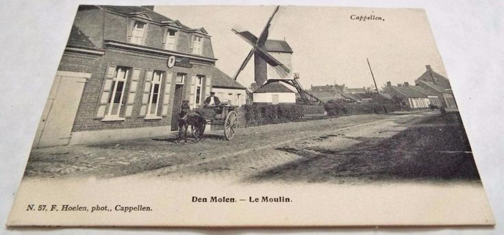 Windmill - Cappellen - Luxembourg Undivided Back Postcard c1900