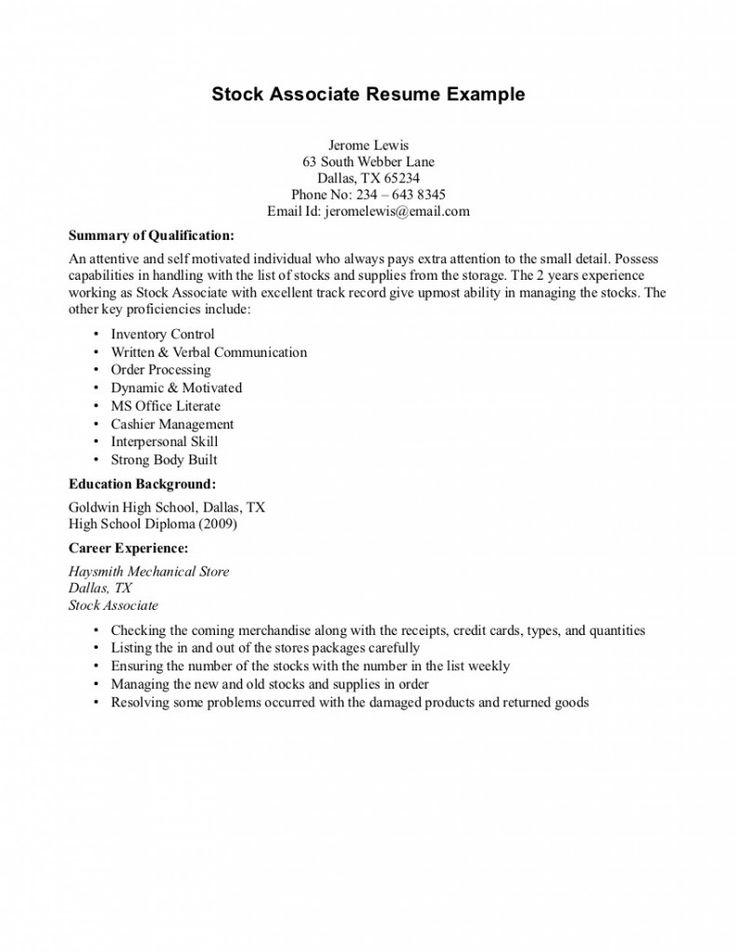 Resume Examples High School High School Resume Examples  Best