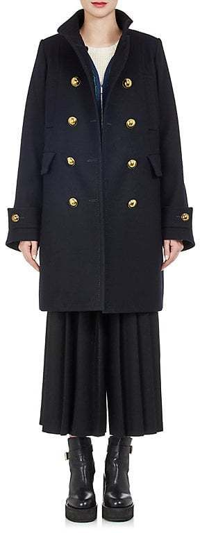 Sacai Women's Peacoat & Quilted Vest Combo  #oversized coat #ShopStyle #MyShopStyle click for more information or to purchase the item