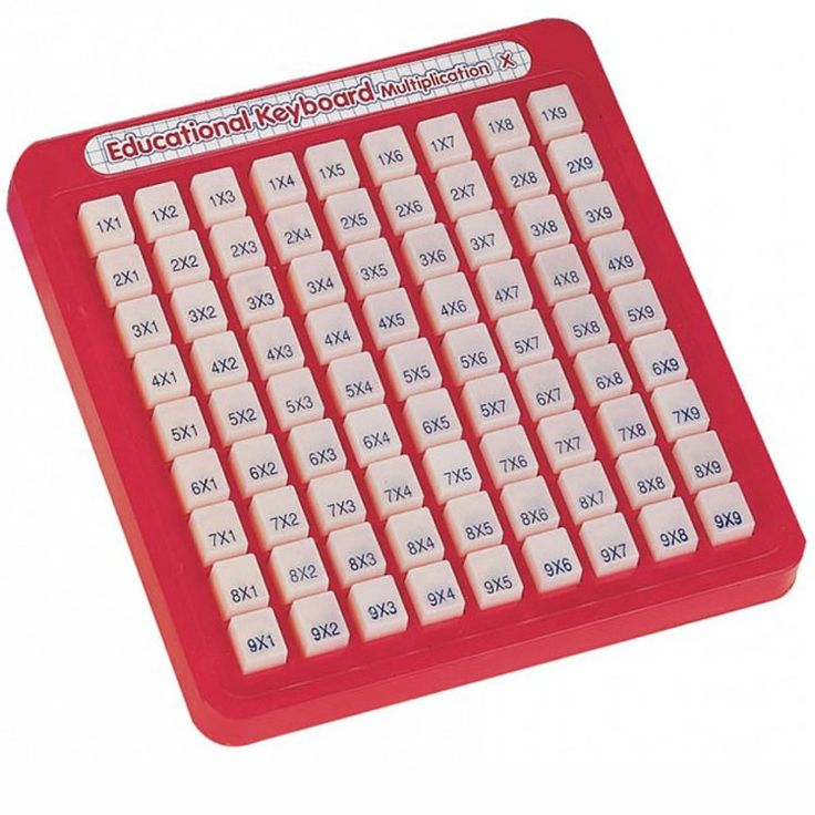 This mind powered Math Keyboard- Multiplication from Small World Toys will help your kids learn multiplication facts at home, in a classroom or on-the-go!