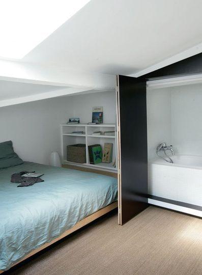 Les 103 meilleures images propos de chambre sous comble for Chambre 9m2 sous comble