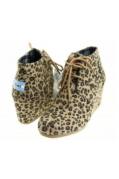 Toms Wedges Shoes Size 7 Leopard Print Please Gifts