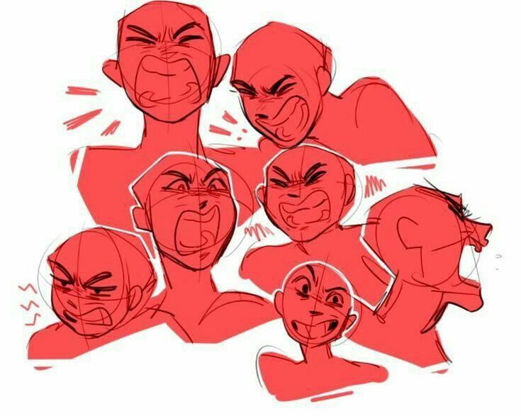 Anger Emotion Reference Anger Emotion Reference Anger Emotion Reference Drawing Expressions Art Reference Art Reference Poses