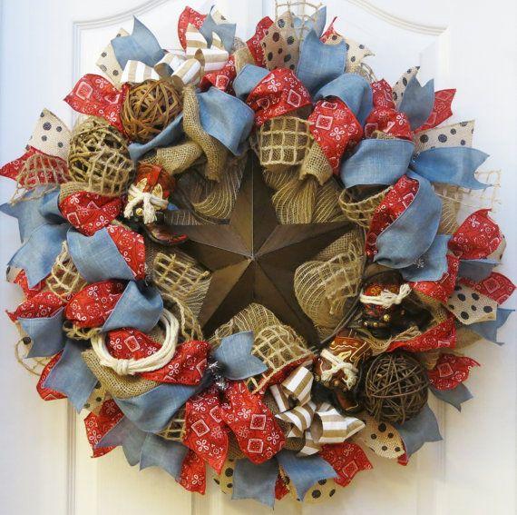 Hey, I found this really awesome Etsy listing at https://www.etsy.com/listing/223129037/western-wreath-burlap-western-wreath