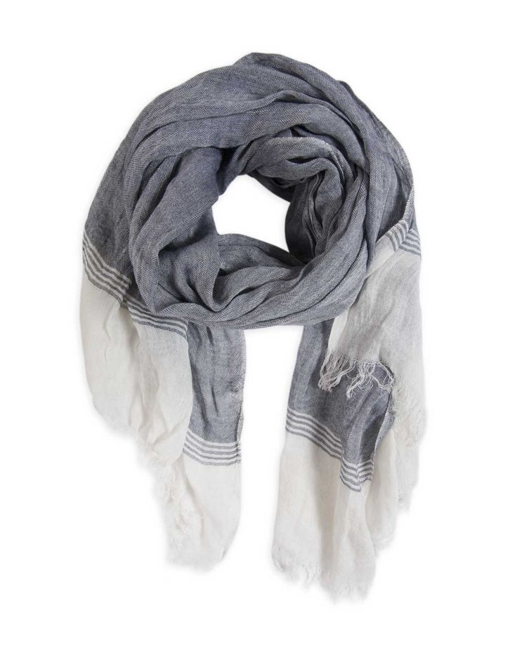 Raw Edge Viscose Scarf