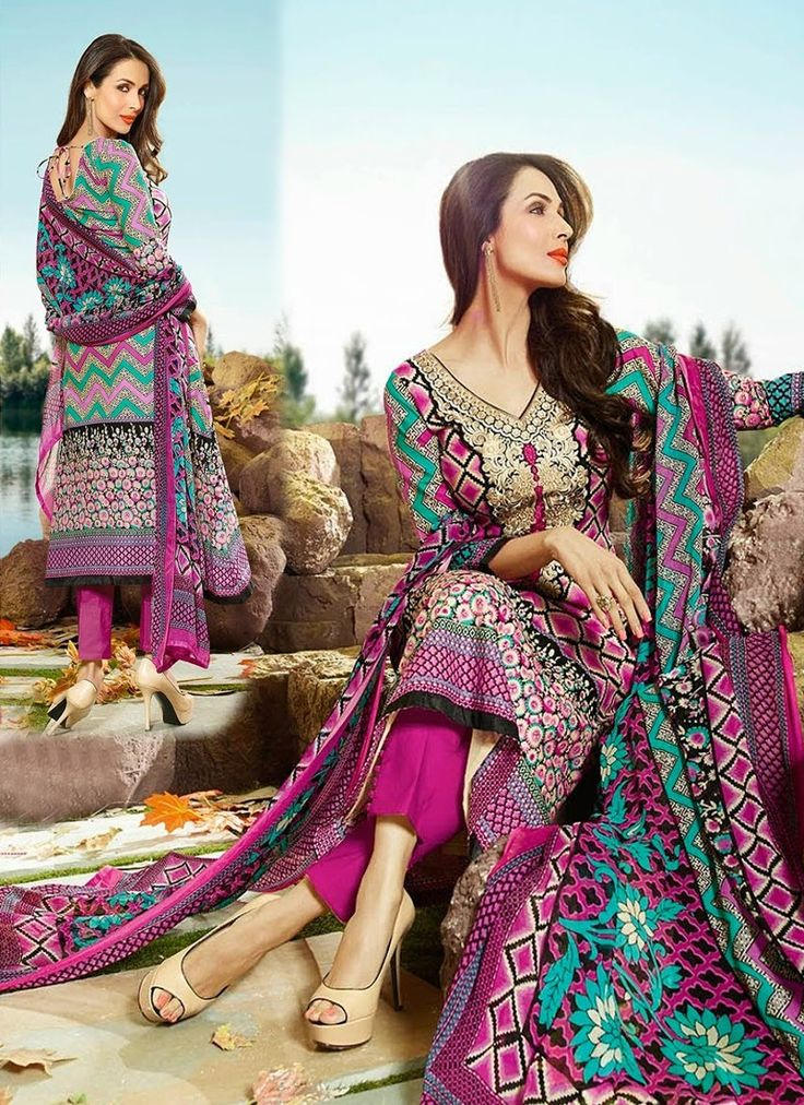 Pink Ornate Cotton Palazzo Suit With Printed Work