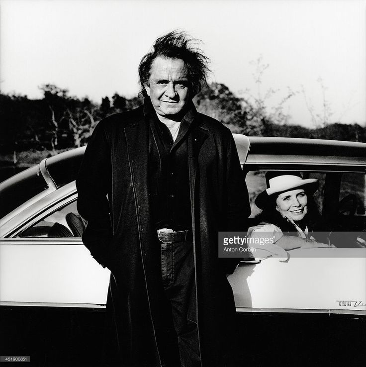 Singer Johnny Cash and his wife June Carter Cash are photographed for Self Assignment on 1994