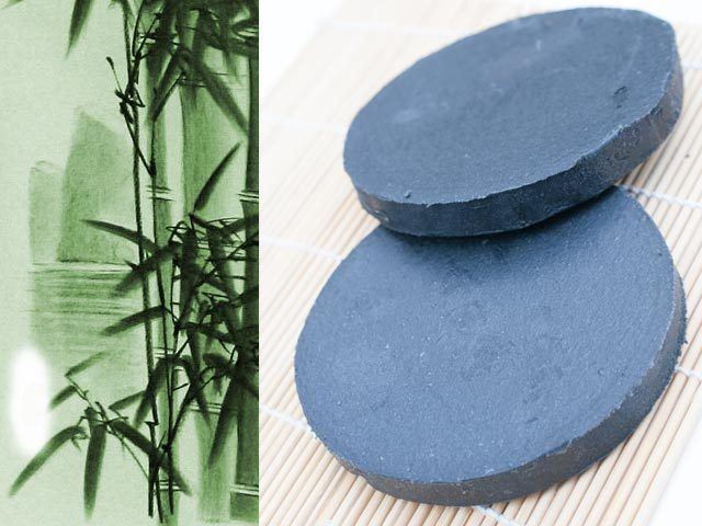 100% Natural Handmade Activated Charcoal Soap DETOX Round Skinny Rustic Bar OZ