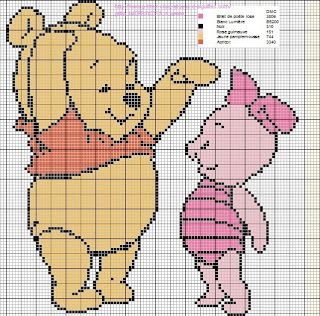 ♥ cross stitch archive ♥: WINNIE THE POOH AND HIS FRIEND-CROSS STITCH PATTERN