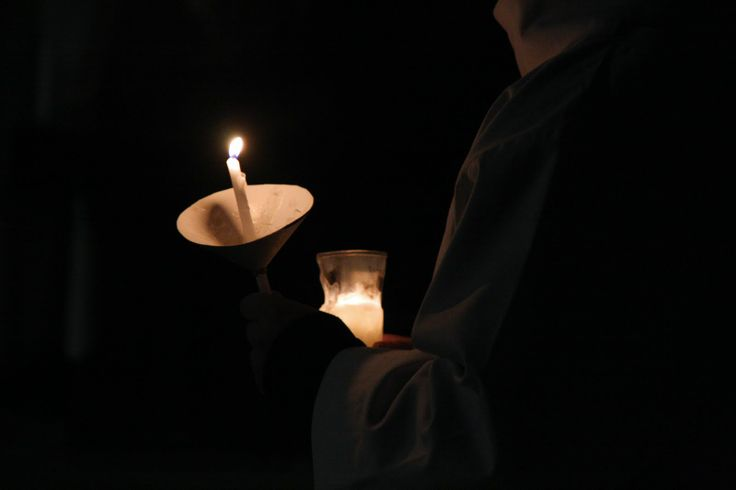 Dominikańskie roraty, fot. Marcin Mituś  #roraty #liturgia #dominikanie #op #modlitwa
