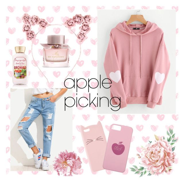 """""""apple picking 🍎"""" by flie9enpilz on Polyvore featuring Hot Topic, WithChic, Burberry, Charlotte Russe and Beauty Treats"""
