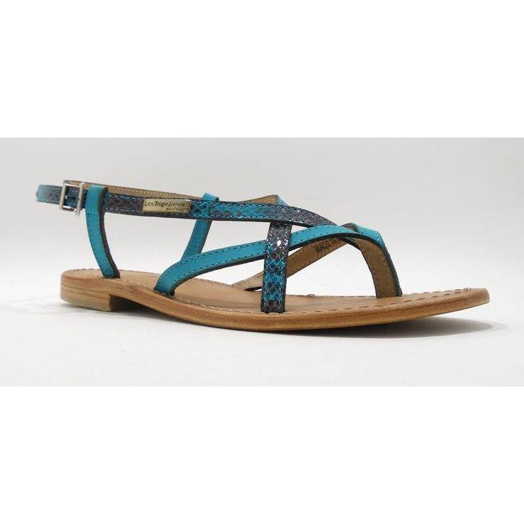 Nu-pieds Hiboux Turquoise marque LES TROPEZIENNES