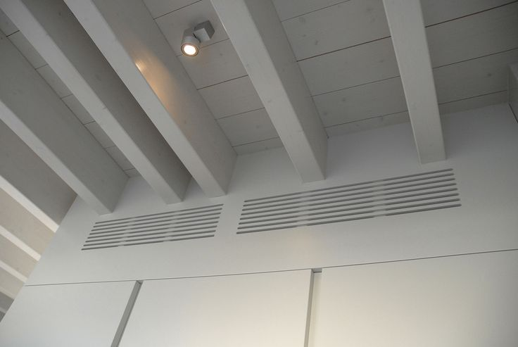 kitchen TIME 45°- detail of the top wall with the air conditioning grilles