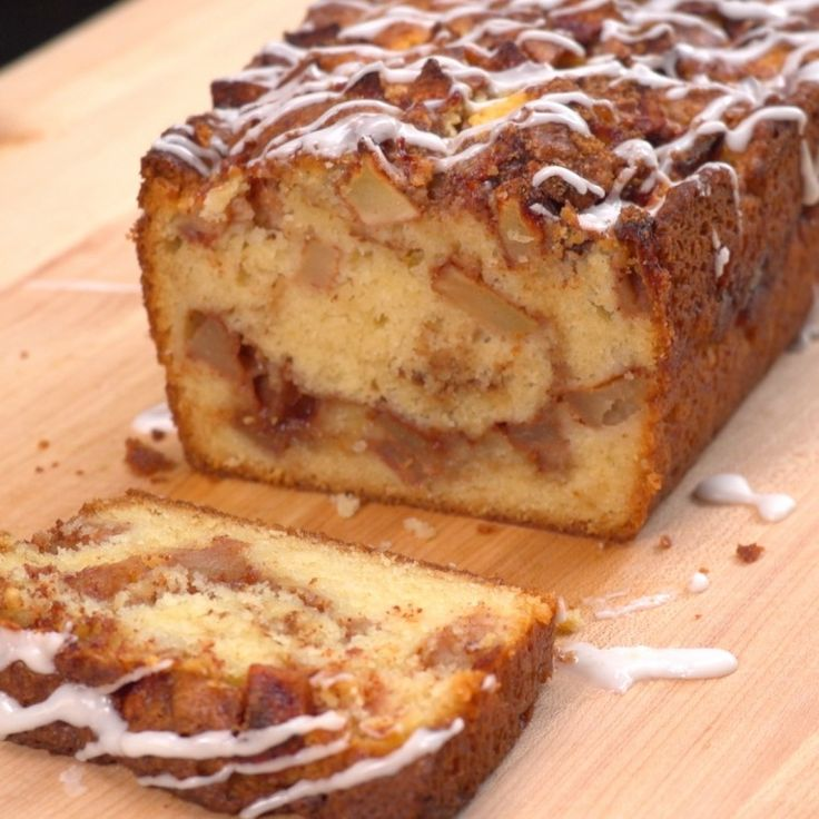 It's apple-picking season! Our newest, most autumnal favorite way to enjoy the fresh-picked fruits? This simple-to-make Apple Fritter Bread!