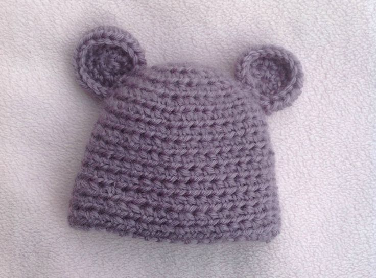 VERY EASY CROCHET BABY HAT TUTORIAL; BABY BEAR HAT