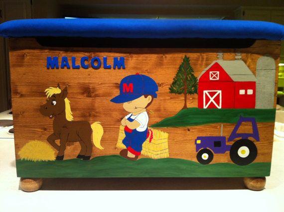 Farm Boy Toy Box made for Malcolm & 25+ unique Boys toy box ideas on Pinterest | Big toy box Wood toy ... Aboutintivar.Com