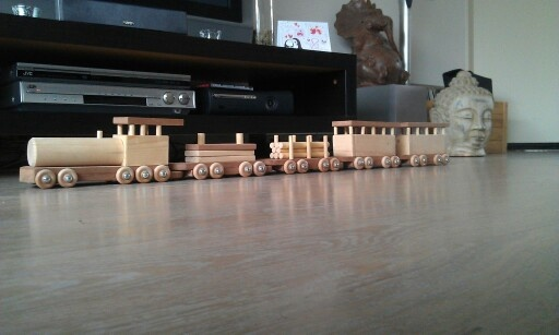 Homemade wooden train