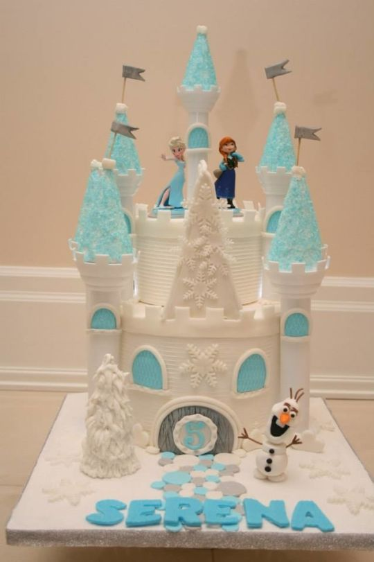 niece's Frozen castle cake