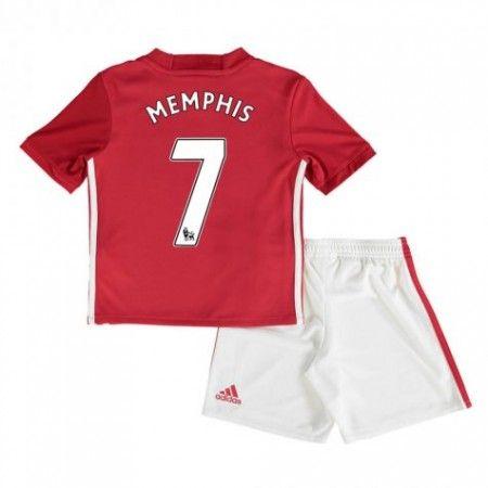 Manchester United Fotbollskläder Barn 16-17 #Memphis Depay 7 Hemmatröja Kortärmad,248,15KR,shirtshopservice@gmail.com