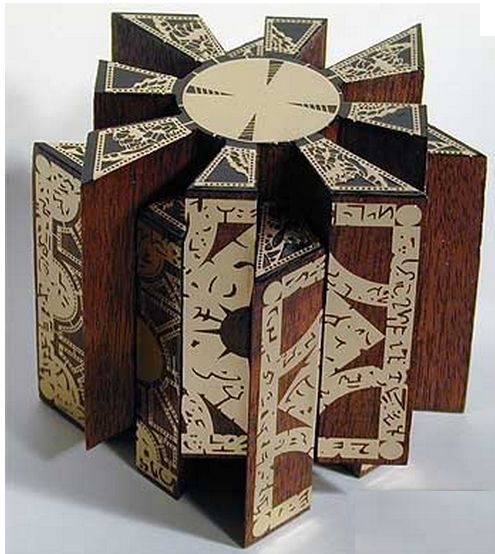 A puzzle box (also called a secret, or trick box) is a box that can only be opened through some obscure or complicated series of manipulations. Description from imgarcade.com. I searched for this on bing.com/images