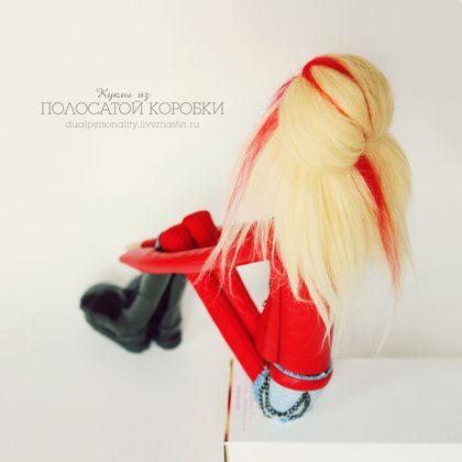 Байкерша Аврил — текстильная кукла - байкерша,рок,неформал,необычная кукла