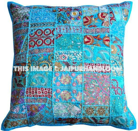 "24x24"" Turquoise Decorative throw Pillows for couch, bed pillows, meditation pillows, seating cushions, chair cushions, outdoor toss pillows"