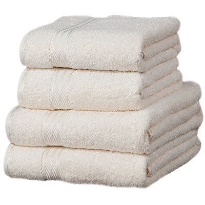 Linens Limited Supreme 500gsm Egyptian Cotton 4 Piece Guest Towel Set, Ivory:Amazon.co.uk:Kitchen & Home